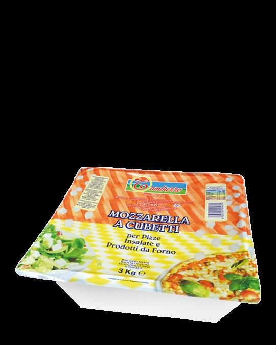 Cubed Mozzarella Cubettata Tamburro 3kg