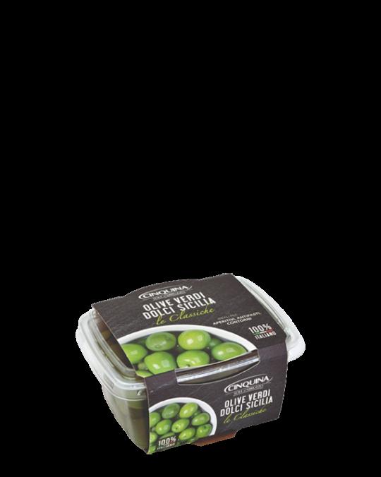 Green Sicilian Olive Nocellara Sicilia Cinquina 12x250gr