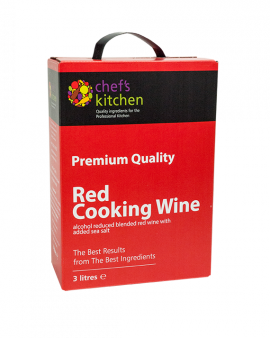 Chefs Kitchen * Red* Cooking Wine 3Lt Bag In Box