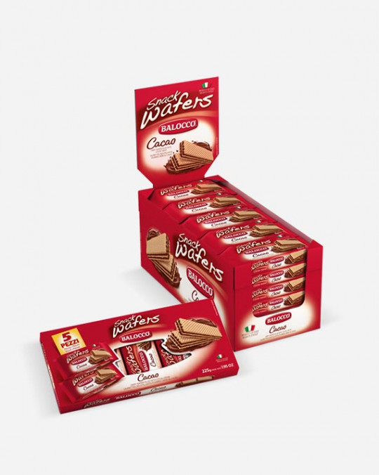 Wafers Snack Cacao Balocco 30 x 45gr